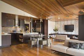 Vaulted Ceiling Open Floor Plans Astonishing Cedar Ceiling Living Room Contemporary With Open Floor