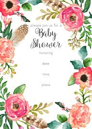 free printable floral shower invitation baby shower pinterest