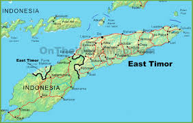 Germany Physical Map by East Timor Physical Map