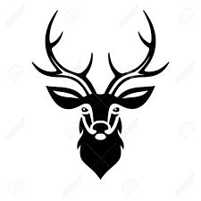 Deer Head by Deer Head On White Background Vector Illustration Royalty Free