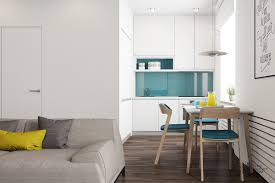 Blue Green Turquoise Bathroom Decor Space Saving Modern by 3 Modern Style Apartments Under 50 Square Meters Includes Floor