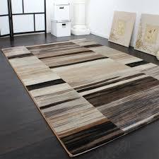 Esszimmer Teppich Teppich Gestreift Beige Design Teppiche