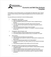 Gap Analysis Template Excel Sle Gap Analysis 11 Documents In Pdf Excel