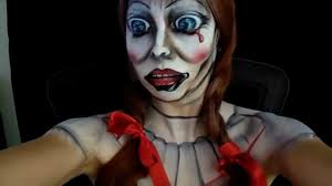 halloween makeup idea annabelle doll makeup tutorial youtube