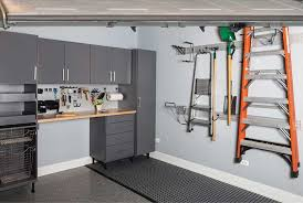 Tool Bench Organization Custom Garage Cabinetry Tool Bench And Wall Storage System