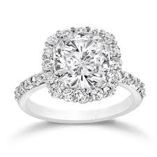 diamond halo rings images Cushion shape diamond halo ring engagement rings bridal jpg