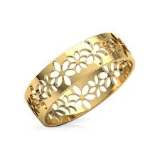 gold ring design floret cutout ring jewellery india online caratlane