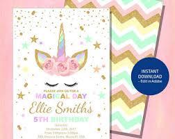 birthday invitations birthday invitations etsy