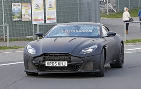 hotter aston martin db11 with more aggressive front spied