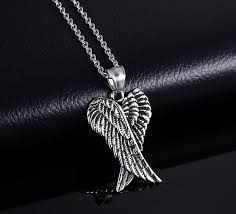 jewelry wings necklace images Folded angel wings necklace for guys or goddesses jpg