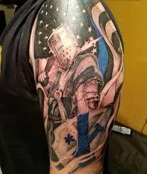 police tattoo 1 asterisk tattoo thin blue line tattoo american