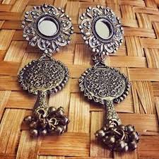 metal earings metal earring earrings lotus crafts exports delhi id
