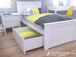 Single Storage Bed Modern White BC Furniture - Childrens bedroom furniture melbourne
