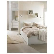 malm bed frame high w 4 storage boxes white leirsund 180x200 cm