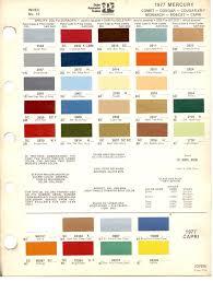 paint chips 1977 mercury comet cougar xr 7 monarch bobcat capri
