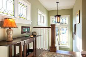 craftsman pendant lights 2 shade pendant light w stained glass