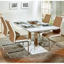 Dining Room Furniture Edmonton Edmonton Extendable Dining Table White Gloss And 4 Marine