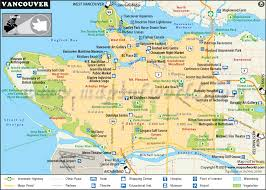 canadian map cities vancouver map interesting facts about vancouver city canada