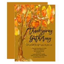 thanksgiving gathering invitations announcements zazzle