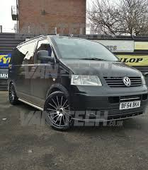 volkswagen van wheels wolfrace aero 20 u2033 polished black alloy wheels fitted to a vw