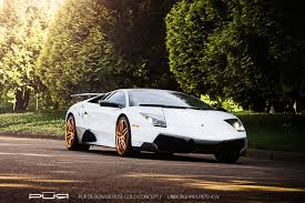 murciélago lp670 4 super veloce on pur rose gold wheels