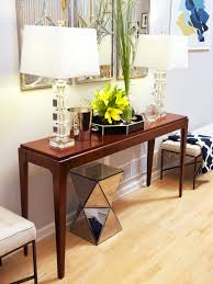 furniture modern living room console table with nice table lamp