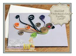 turkey quilling project thanksgiving craft projects tbccrafters