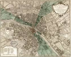 Map Paris France by Paris I Old Maps Of Paris Year 1740 18th Century France