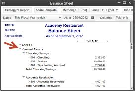 Restaurant Balance Sheet Template Wrapping Up Lots Of Tidbits In Quickbooks 2013