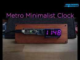 overview metro minimalist clock adafruit learning system