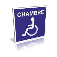 chambre handicapé panneau chambre handicapés signalétique handicape pmr