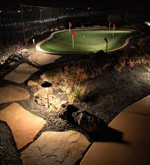 backyard putting green lighting backyard creations outdoor lighting landscape lighting services