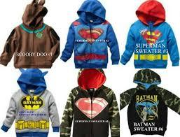 nwt new boys scooby superman batman sweatshirt sweater hoodie 3t