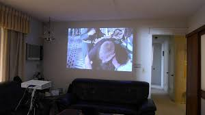 70 inch tv home theater lg pa70g led projector soft lighted room demo test youtube