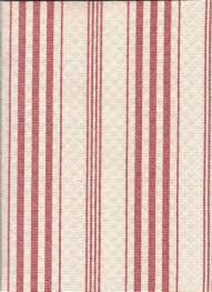 red stripe coral color fabric for top treatment curtains tiers