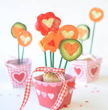 valentines kids valentines cucumber bouquet healthy ideas for kids