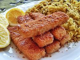 ma cuisine végétalienne poissons panés et curry de riz aux petits