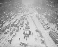 winter times square new york 1935 vintage photography