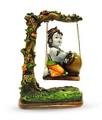 Earth Home Decor by Earth Home Decor Bal Krishna On Swing Buy Earth Home Decor Bal