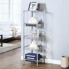 5 Shelf Wire Shelving Amazon Com Langria 5 Tier Bathroom Shleving Wire Shelving Unit