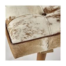 pouf en peau de vache bout de lit en peau de vache l 120 cm