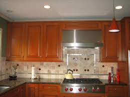 l shape kitchen decorating design using red cherry wood kitchen