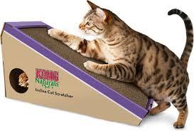 Cardboard Cat Scratcher House Kong Naturals Cat Scratcher Incline Chewy Com