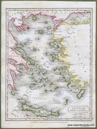 Aegean Sea Map Antique Maps And Charts U2013 Original Vintage Rare Historical