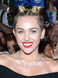what is the name of miley cryus hair cut pics miley cyrus mtv video music awards look double top knots