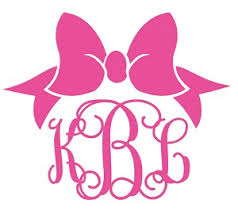 preppy decals custom monogrammed preppy bow decal