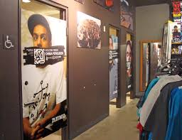 door graphics printed by washington graphics llc to enhance zumiez in