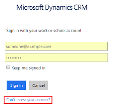 reset microsoft online services password troubleshoot dynamics 365 customer engagement sign in problems