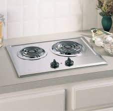 Cooktops On Sale Ge Jp201cbss 21 Inch Electric Cooktop With 2 Coil Elements