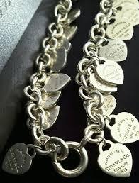 multi heart bracelet images Tiffany co silver return to co mini multi dangle 22 heart jpg